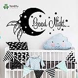 nkfrjz Vinyle Sticker Bonne Nuit Lune Lune Étoiles Laisse Chambre des Enfants...
