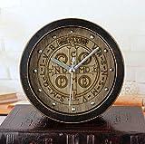 Sweety Kaminuhr Vintage alte Schwarze Holz Holzschnitzerei Mode kreativ Retro-Uhr