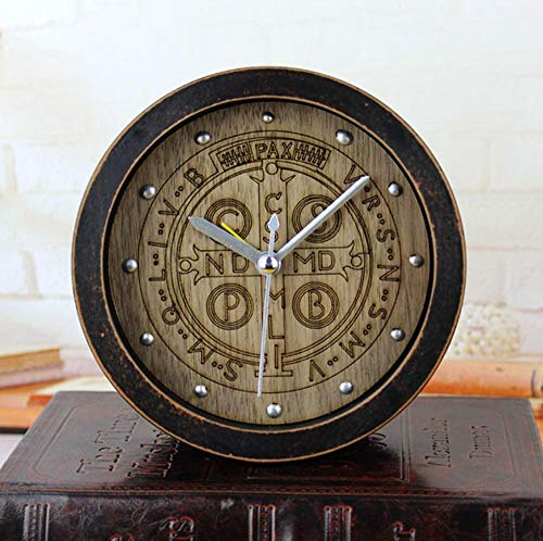 Hongge Relojes de Chimenea,Vintage Antiguo Negro Madera Talla de Madera Moda Creativa...
