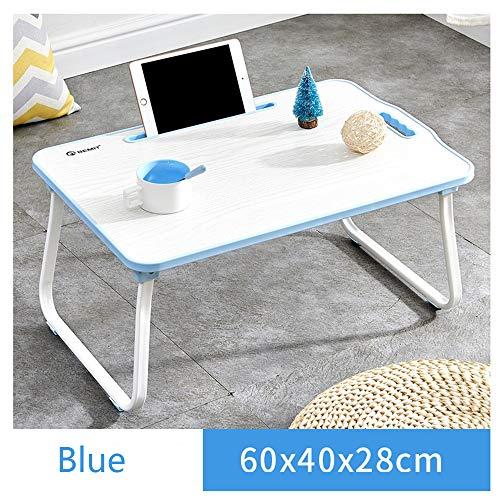 SSHHM Faltbare Kinder Multifunktionstisch,Lernen Tisch Mit Slot-Design,Raum Stabil/Blau / 60×40×28 cm -