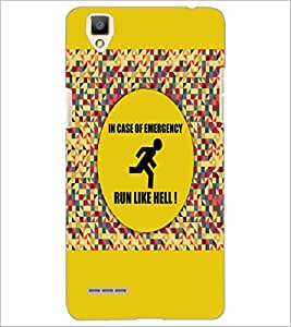 PrintDhaba Quote D-3524 Back Case Cover for OPPO F1 (Multi-Coloured)