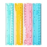 LAAT Lineale Gummi-Lineal Straight Lineal Drawing Tool Schulbedarf Student Schreibwaren Zufällige Farben 15cm