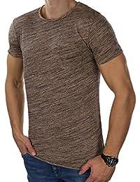 JACK   JONES Herren T-Shirt jorWALLET   jorNEW Rocket Tee Rundhals Leicht  Meliert Slim 2bc4b92964