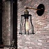 Avanthika E27 Industriale Retro Lampada da parete Applique da parete interni Lampade da parete industriali retrò corridoio di passaggio le luci della barra luminosa luci da parete