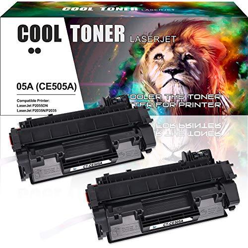 Cool Toner Compatible toner CE505A 05A para HP LaserJet P2030 P2035 P2035N P2050 P2055 P2055D P2055DN P2055X, Compatible toner ce505a,(2Pack, 2300 Pages)