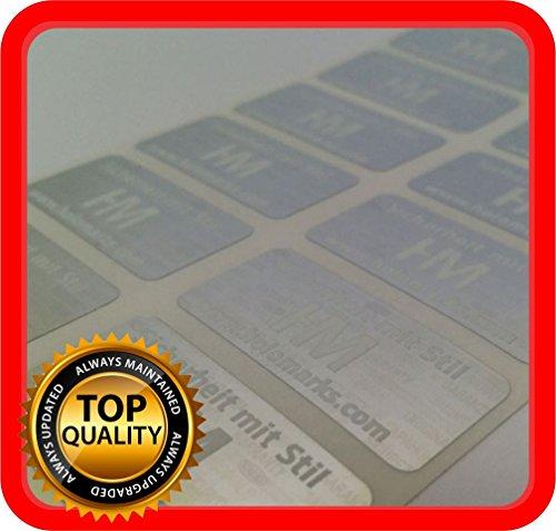 Kostenlose Personalisierung! 700 Hologramm Etiketten mit Ihrem Logo in weiß, Siegel Aufkleber 32x15mm