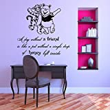 Vinyl Wandtattoo Winnie Puuh the Pooh Zitat A Day Without A Friend Is Like A Pot Without A Single Drop Of Honey Baby Bär Kinder Wandaufkleber Wandsticker Wanddekoration Kinderzimmer Babyzimmer M243