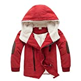 Children Clothes,FeiXiang Children Jackets Boys Hoodies With Outerwear Warm Winter Jacket Clothing (6-8T/140CM, Orange)
