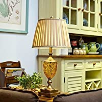 Cristallo Vintage Lampada da tavolo, una luce, cristallo, acciaio placcato e Fabic (SUDALA00389) , Transparent (Cobalt Blue Led)