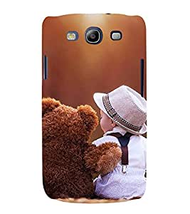Fabcase A baby with her teddy friend Designer Back Case Cover for Samsung Galaxy S3 I9300 :: Samsung I9305 Galaxy S Iii :: Samsung Galaxy S Iii Lte
