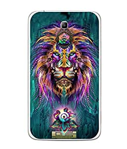 Fuson Designer Back Case Cover for Samsung Galaxy Tab 3 (8.0 Inches) T310 T311 T315 LTE (Jungle ka raja Sher Tiger Forest Vintage )