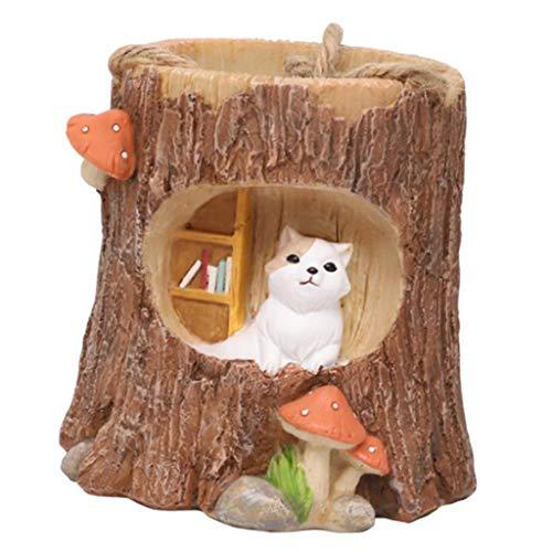 B Blesiya Blumentopf Sukkulenten Pfanzenhalter mit Süßem Eichhörnchen/Hund Dekofigur - Katze -