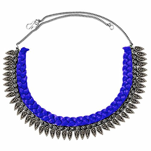 Women Fashion Jewellery New Collection Women Jewellery Silver::Blue Metal OxidisedDesign Necklace