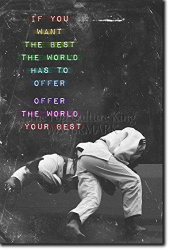 Judo motivacional, póster o afiche. 04 'If you want the best...' Lámina original para regalo con cita de motivación impresa en papel de fotografía 30x20 cm Judoka Japan Japanese Kata