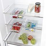 GOURMETmaxx Klemm-Schublade für Kühlschrank 3er-Set transparent/klar Schublade Aufbewahrungsbox Kühlschrankbox Schublade Aufbewahrungskiste Gemüsefach Kühlfach Gemüseschale Fach Zusatzfach