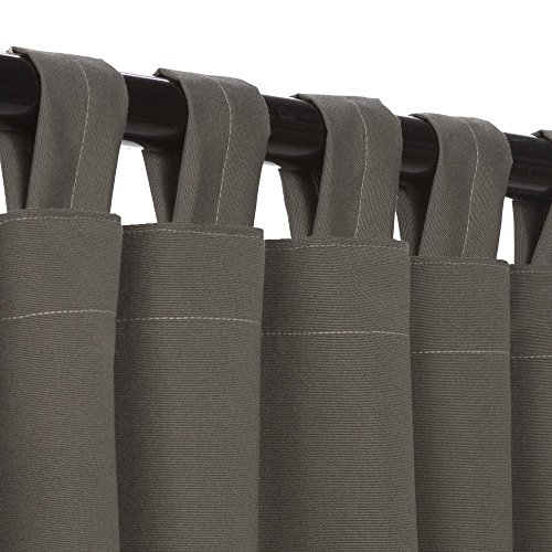 Essentials by DFO anthrazit Sunbrella Outdoor Vorhang mit Taben 108lang