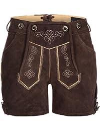 01f07a8c32e6 Tracht   Pracht - Damen 100% Wildleder - Trachtenlederhose Kurz Hotpants -  Lederhose