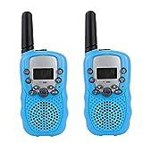 PMR Funkgerät Sprechfunkgerät Walkie Talkie mit LC-Display 2er Set 8 Kanäle Reichweite bis zu 2km