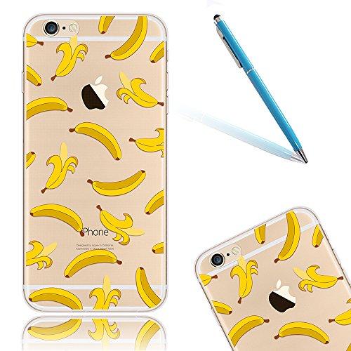 "Pare-chocs Coque pour Apple iPhone 6Plus/6sPlus 5.5""(NON iPhone 6/6s 4.7""), CLTPY Créatif Cute Animal Couleur Design Cover en Soft TPU Silicone Gel, Super Clear Crystal Ultra Slim Fit Extreme Souple A Banane"