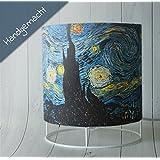Tischlampe handgemacht Sternennacht von Vincent van Gogh