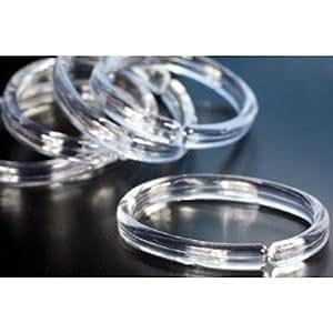 12 duschvorhangringe oval transparent ringe f r duschvorhang vorhangringe. Black Bedroom Furniture Sets. Home Design Ideas