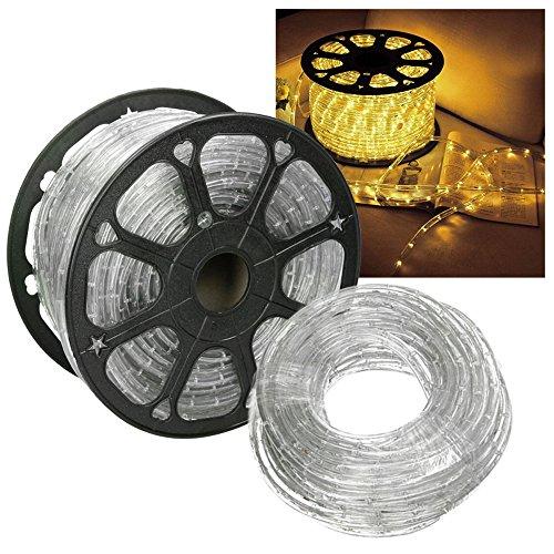 HG® 10m LED Lichtschlauch Lichterkette Lichterschlauch Dekolicht Fensterbeleuchtung für Außen&Innen Weihnachten Dekoration Hochzeit mit controller Gelb