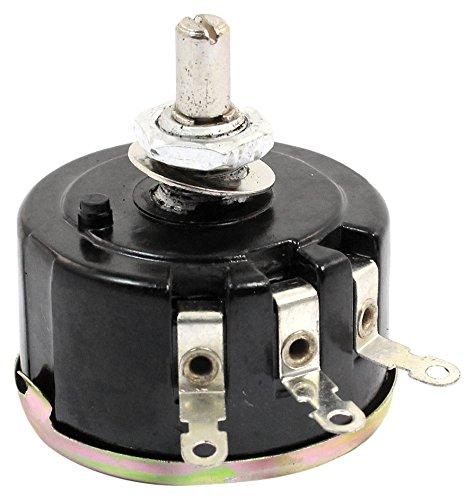 Sourcingmap Potentiometer, 42 mm, 100 Ohm, 5 W Durchmesser, volle Größe, Schwarz