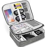 HCFGS Elektronische Tasche - Doppelte Schichte Elektronik zubehör organisator - universal travel Kabel Organizer Tasche (grau)