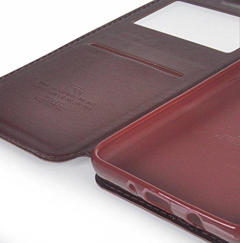 UKDANDANWEI iPhone 7 [Rr] Hülle Case, [ALL DAY] Colorful Jelly Case 360°Outdoor Touch Case Schutz Cover Hülle Handyhülle Silikon kratzfeste stoßdämpfende Case für iPhone 7 Rot Kaffee Braun