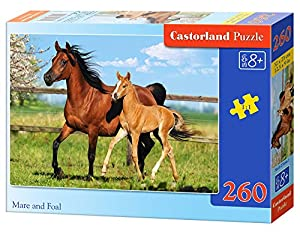 Castorland- Mare and Foal Puzle, Multicolor (B-27064-1)