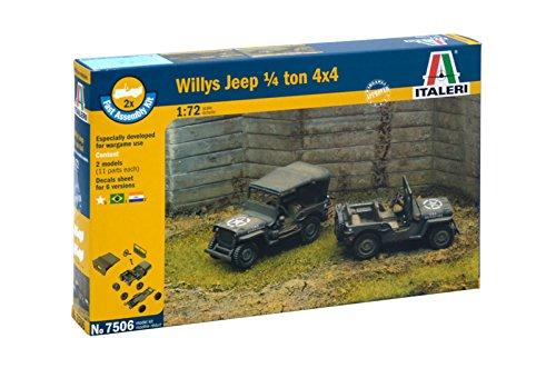 Italeri 7506 - 1/4 ton. 4x4 truck - fast assembly (2 pcs) model kit scala 1:72