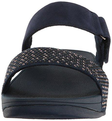 Sandalo Blank Blue Slide Fitflop Lulu midnight Damen Navy Popstud Peeptoe UPqw6IHq