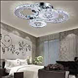 YanCui@ LED Crystal Lamp Atmosphere Living Room Lamp Creative Ceiling Lamp Bedroom Lamp Deluxe Round Hall Lamp Room Lamp 8806 , yellow-90-240v