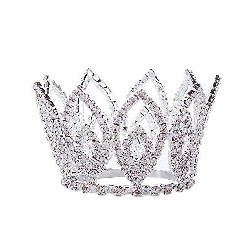 Santfe, Haarschmuck / Kopfschmuck / Tiara für Babys / kleine Mädchen, klein (Silber Mini-tiara)