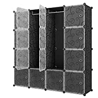 16-Cube Modular Cabinet for Space Saving Ideal Storage Organizer Wardrobe