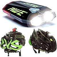 AWE® AWEDual 360°™ USB Recargable de bicicletas Doble Casco de la luz delantera