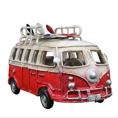LIJUN Neue Retro-Inverness-Windbus Harz handgemachtes Automodell Skateboard Surf Bus Pendant