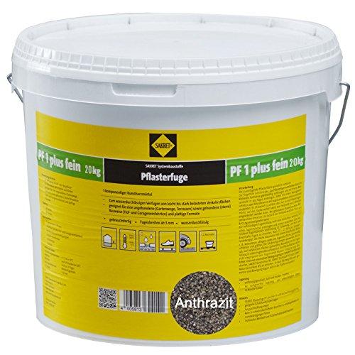 Preisvergleich Produktbild Sakret Pflasterfugenmörtel PF1 Plus FEIN 25kg Kunstharzmörtel 1K (Anthrazit)