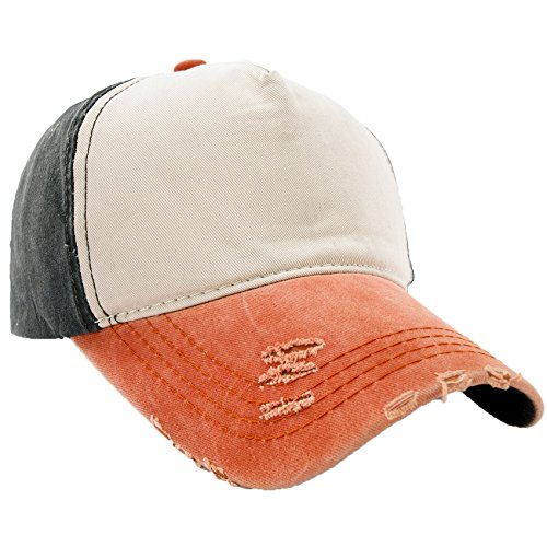 Unisex Baumwolle Baseball Cap Star Sport Mütze Baseballkappe Snap back Trucker MFAZ Morefaz Ltd (Plain Nave Orange)