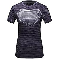 Cody Lundin® mujeres Impresión 3D Digital Superpersona Ejercicio Fitness y compresión manga corta camiseta ,para Yoga ejecutando deportes