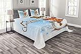 SET ENTHÄLT: 1 Tagesdecke (220 CM BREITE X 220 CM LÄNGE) + 2 Kissenbezüge (75 CM BREITE X 50 CM LÄNGE). Ein luxuriöses Produkt für alle Häuser, Schlafsäle, Hotels, Gästezimmer. Es ist eine moderne Alternative zum traditionellen Klassiker. Praktisch, ...
