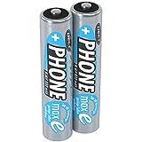 ANSMANN Akku AAA Micro 800 mAh 1,2V NiMH für Schnurlostelefon 2 Stück - Wiederaufladbare Batterien mit geringer Selbstentladung maxE - Akkus ideal für DECT Telefon schnurlos - Rechargeable Battery
