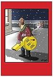 Nobleworks '-Schneefräse ': komisch Weihnachten Grußkarte mit Umschlag (C2493X SG)