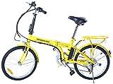 Velobecane Urban Vélo électrique Jaune 66 x 37 x 84