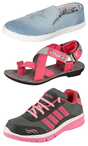 Maddy-Perfect-Combo-of-Sport-Shoes-Sneaker-Sandal-for-Women-Pack-of-3-in-Various-Sizes