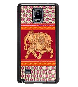 PrintVisa Metal Printed Elephant Designer Back Case Cover for Samsung Galaxy Note 4 N910G -D5010