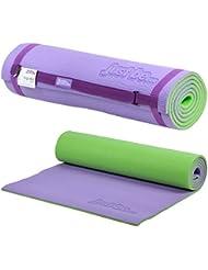 just be...® Esterilla Yoga - 180cm - Espuma de 10mm de grosor - Morada/Verde