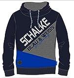 FC Schalke 04 Kapuzen-Sweat Kids Kontrast Blau, Kindergrößen:164
