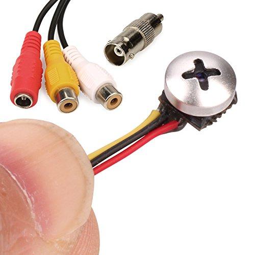 Zoter - Micro fotocamera, Spy Cam, telecamera pinhole nascosta, TVCC di sicurezza, telecamera di sorveglianza 800TVL per casa e ufficio