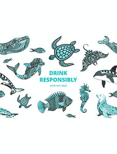 soulbottles Trinkflasche aus Glas mit Drink Responsibly Motiv ,  0,6l